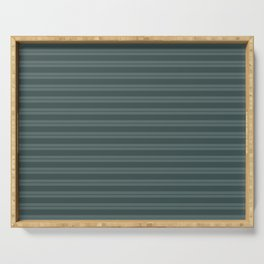 Night Watch PPG1145-7 Horizontal Stripes Pattern 1 on Juniper Berry Green PPG1145-6 Serving Tray