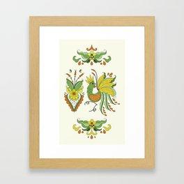 Folklore Rooster - Eivor Framed Art Print