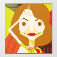 glee Canvas Prints featuring Jayma Mays (Glee) by Shawna Guy
