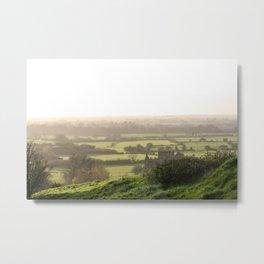 Green Meadow of Ireland Metal Print