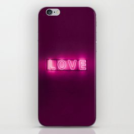 Love Neon Sign iPhone Skin