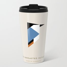 White-Breasted Nuthatch Metal Travel Mug