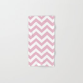 Cameo pink - pink color - Zigzag Chevron Pattern Hand & Bath Towel