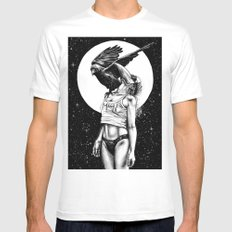 Lovers in the night LARGE White Mens Fitted Tee
