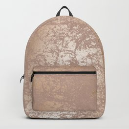 Blush Pink Textured Design with Imploded Effect Backpack
