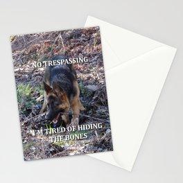No Trespassing I'm Tired Of Hiding The Bones Stationery Cards