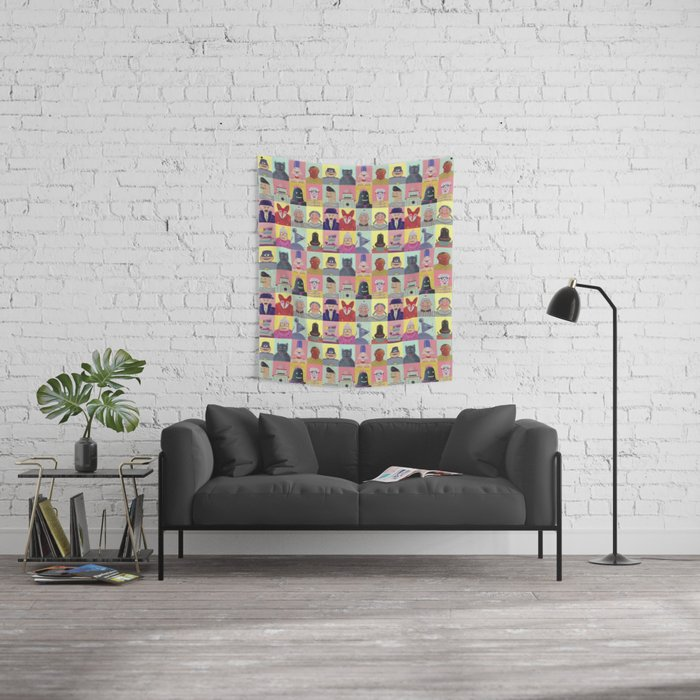 bobbies friends Wall Tapestry