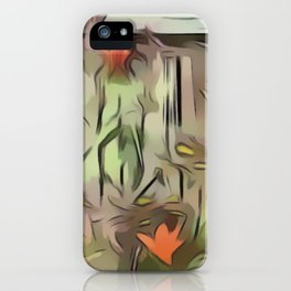 Window Frame Tiger Lily Collage iPhone Case