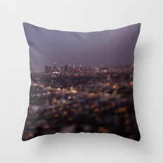 Angel City Lights (L.A. at Night) Throw Pillow