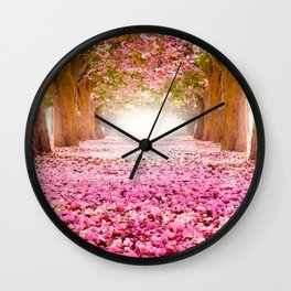 Romantic Flower Tunnel Wall Clock