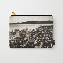 Voyeuristic 1378 Vancouver Cityscape English Bay Twilight Carry-All Pouch