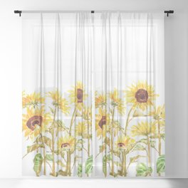 sunflower painting 2020 Sheer Curtain