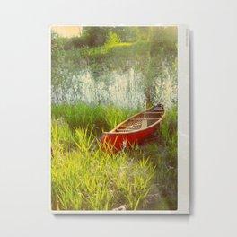 Little Red Canoe Metal Print