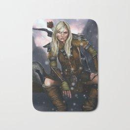 Fantasy Nordic Ranger Woman Bath Mat