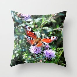 Sweet butterfly Throw Pillow