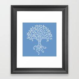 Tree of Life Blue Framed Art Print