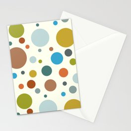 Robot Babies Polka Dots Stationery Cards