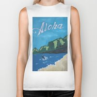aloha Biker Tanks featuring Aloha by TrishRay