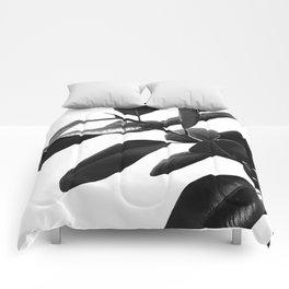 Ficus Elastica Black & White Vibes #1 #foliage #decor #art #society6 Comforters