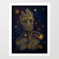 groot Art Prints featuring Groot by Ka-ren