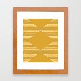 Geo / Yellow Framed Art Print