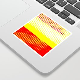 Red Yellow Stripe Pattern Design Sticker