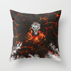 Smoke and Ash :: Reaper Throw Pillow