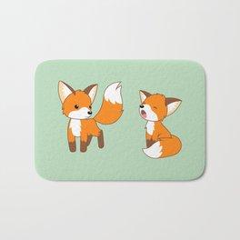Cute Little Foxes Bath Mat