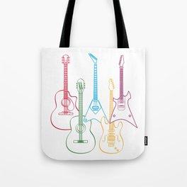 Music Guitar Tote Bag