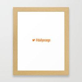 @DailyOrange Framed Art Print