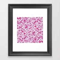 Ab Upside Down Pink Framed Art Print