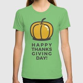Happy Thanksgiving Day Pumpkin Design T-shirt