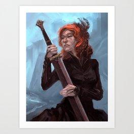 Widow Art Print