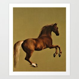 Classical Masterpiece Circa 1762 Racehorse Whistlejacket Rearing Up by George Stubbs Art Print