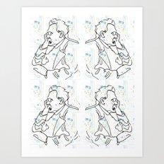 Don't Cry Friedrich Art Print