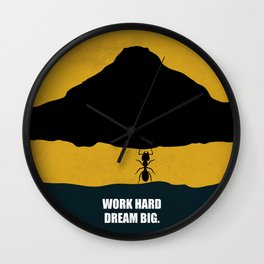 Lab No. 4 - Work Hard Dream Big Corporate Start-up Quotes Poster Wall Clock
