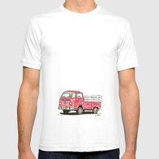 red rider MEDIUM White Mens Fitted Tee