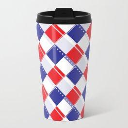 Stars and Stripes Plaid  Travel Mug