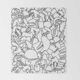 Doodle Explosion Throw Blanket