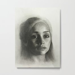 Emilia Clarke Dragon lady Metal Print