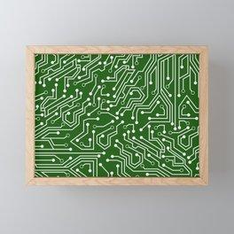 Green Motherboard Geek Decor Framed Mini Art Print