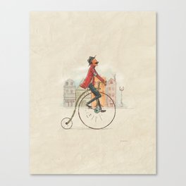 Old cycling Canvas Print