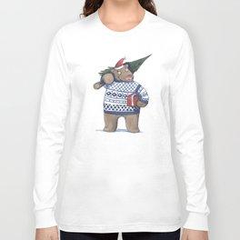 Bear with new year tree Long Sleeve T-shirt