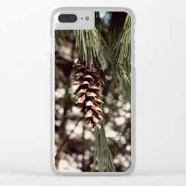 The Last Pine Cone Clear iPhone Case