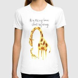 Big Things Have Small Beginnings T-shirt