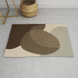 Modern Abstract Shapes #4 Rug