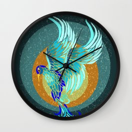 New Water Phoenix Wall Clock