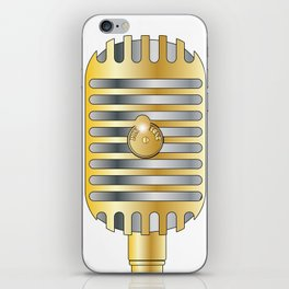 Golden Microphone iPhone Skin