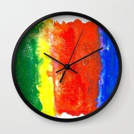 Tropical Tones Watercolour Wall Clock