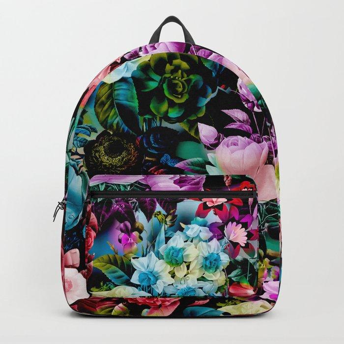 Multicolor Floral Pattern Backpack